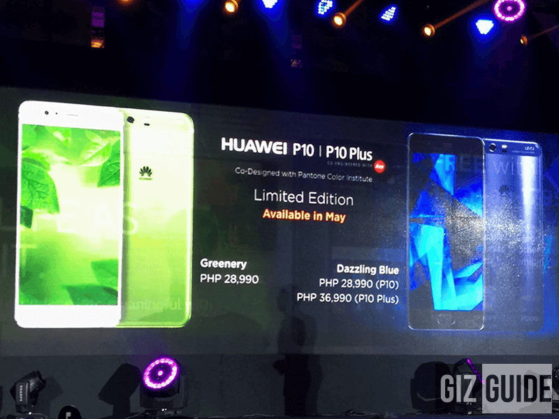 Huawei P10 And Plus In Greenery And Dazzling Blue Will Be Available Starting May