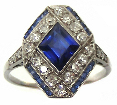 sapphires, diamonds, Victorian, rings, cocktail rings, engagement rings, antique jewelry