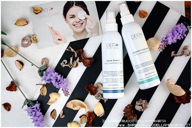 creamy cleanser aqua shake bifasico bio latte detergente skin care bio cosmesi defa cosmetics