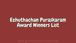 ezhuthachan puraskaram,ezhuthachan puraskaram winners