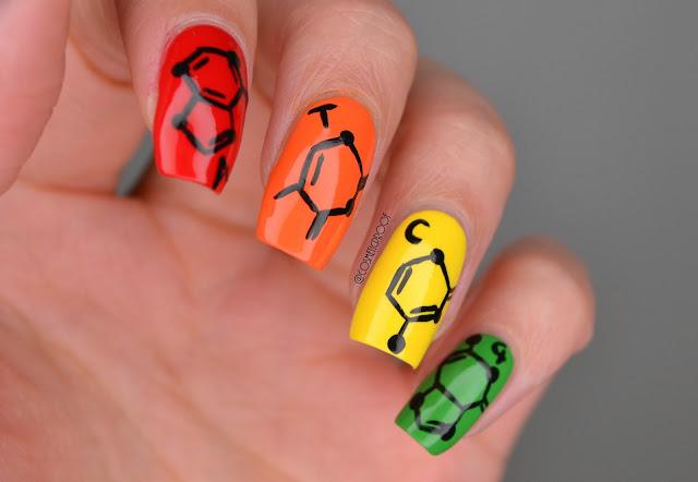 DNA Nucleotide Nail Art