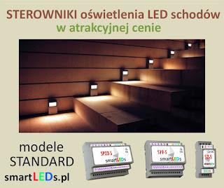 Inteligentne sterowniki schodowe smartlEDs oświetlenia LED schodów - modele STANDARD