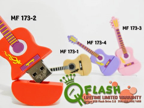 JUAL FLASHDISK UNIK MODEL GITAR