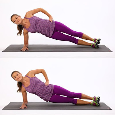 8 Simple No-Equipment Workouts At Home For Women!- Side Plank