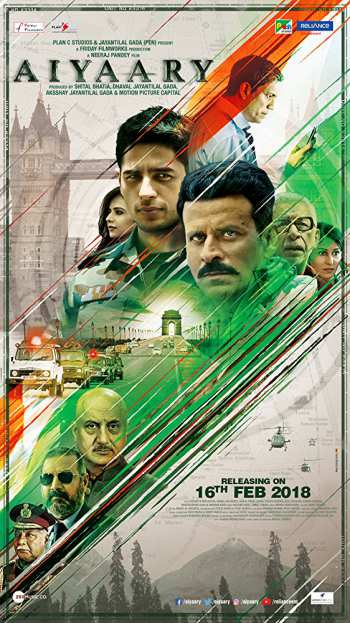 Aiyaary 2018 Hindi Movie 480p DVDRip 450MB watch Online Download Full Movie 9xmovies word4ufree moviescounter bolly4u 300mb movie