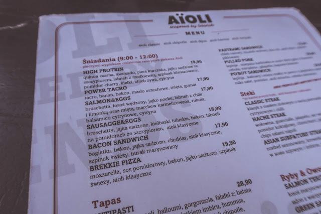 Gdzie na śniadanie w Gdańsku? Aioli