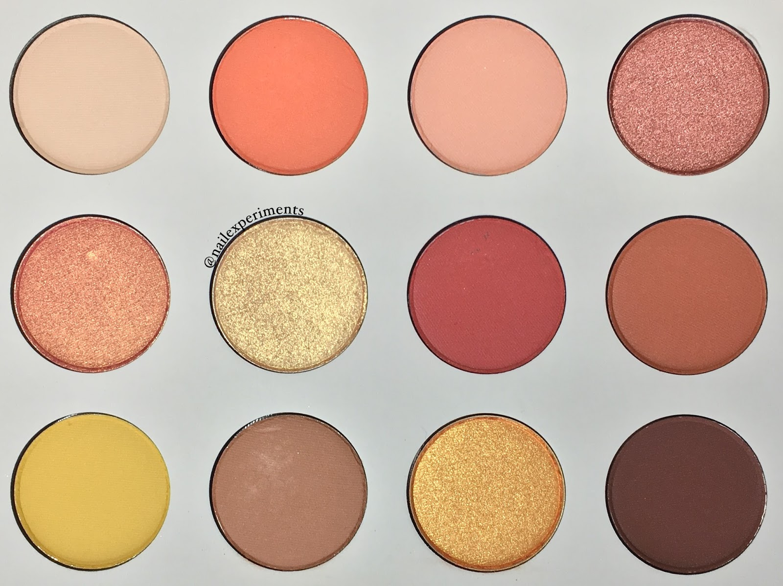 ColourPop Yes, Please eyeshadow pallet swatches