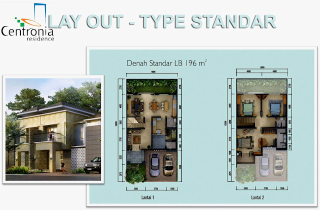 Lay-Out-Rumah-Type-Standar-Centronia-Residence-Sentul-City
