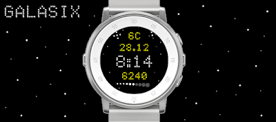 Galasix watchface - Pebble Time Round