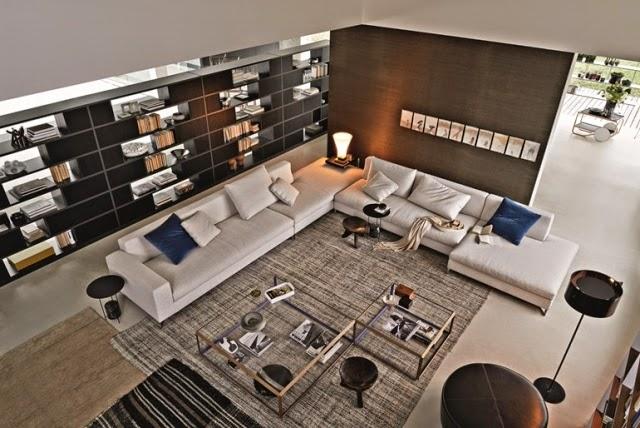 sala elegante y moderna