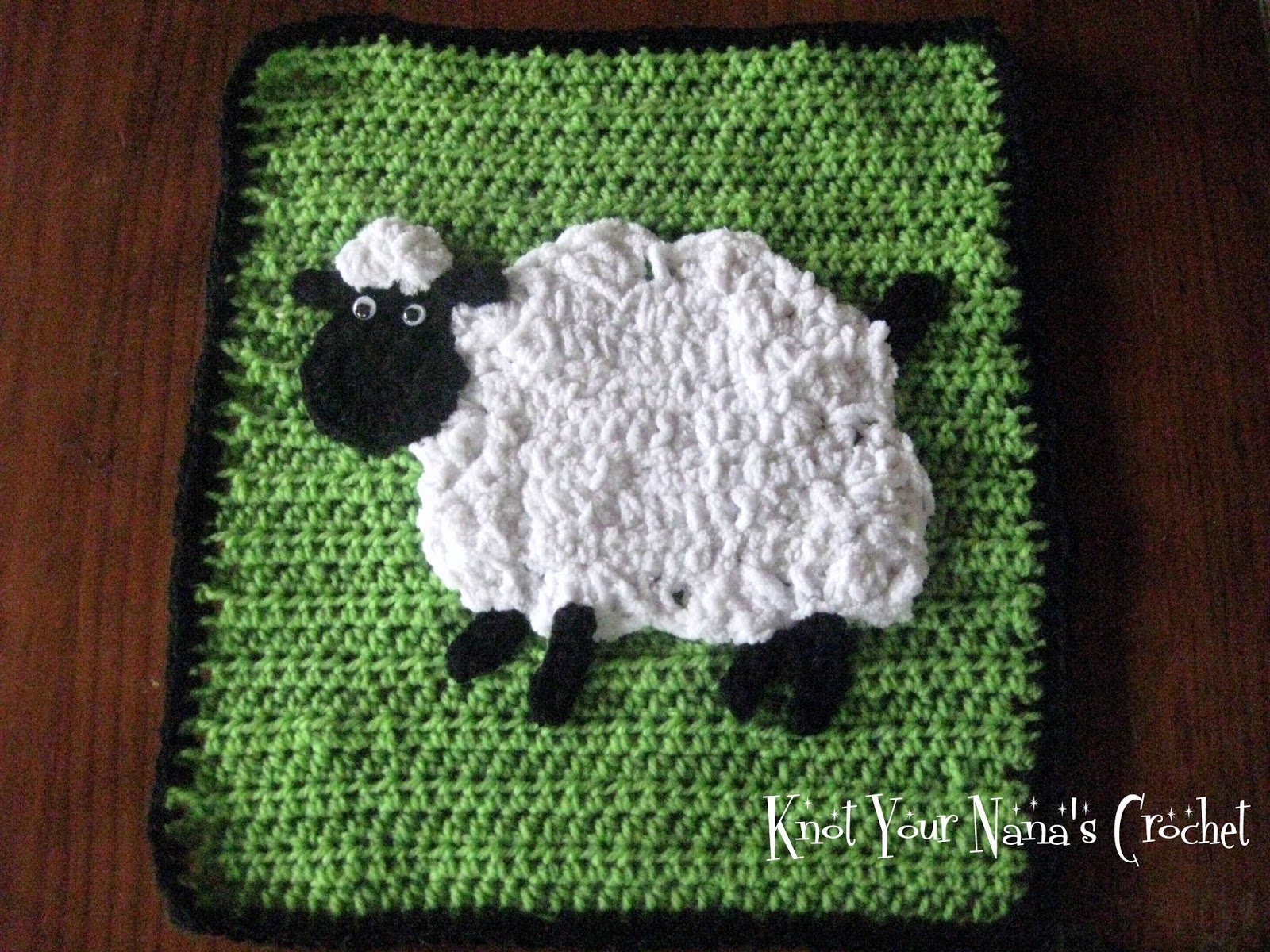 Knot Your Nana S Crochet Crochet Sheep Applique