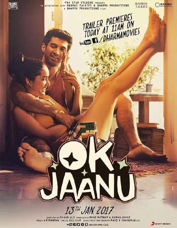 Poster Of OK Jaanu 2017 Hindi 190MB DVDScr HEVC Mobile Watch Online Free Download downloadhub.net