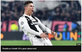 UEFA Taci Ronaldo Tara Kan Murnar Cin Kwallo