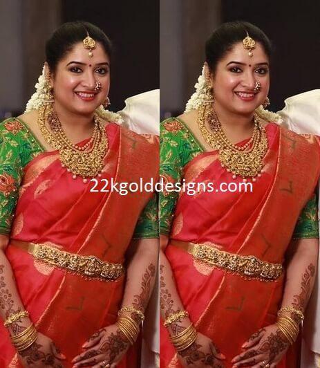 Sridevi Vijaykumar Sister Jewellery at her Baby Shower/seemantham