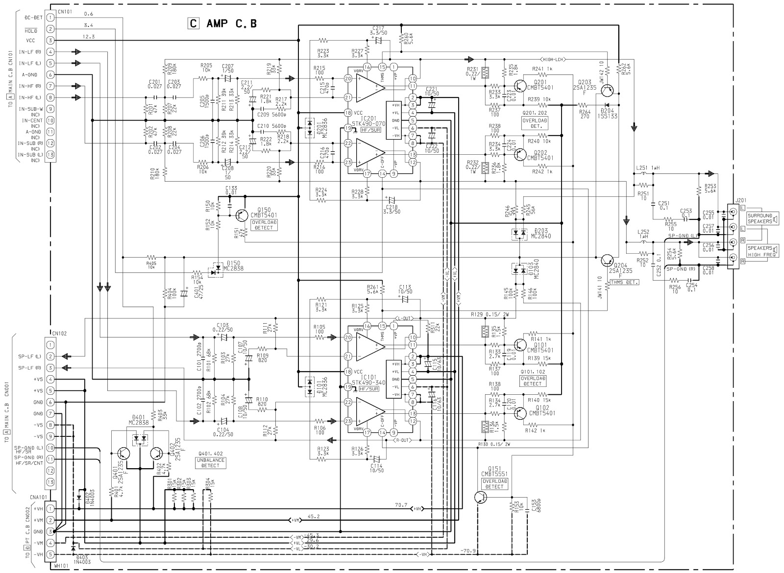 Circuit Diagram How To Reset Aiwa Nsx Sz70 Compact Disc Stereo Wiring Harness Pre Amplifier Front Panel