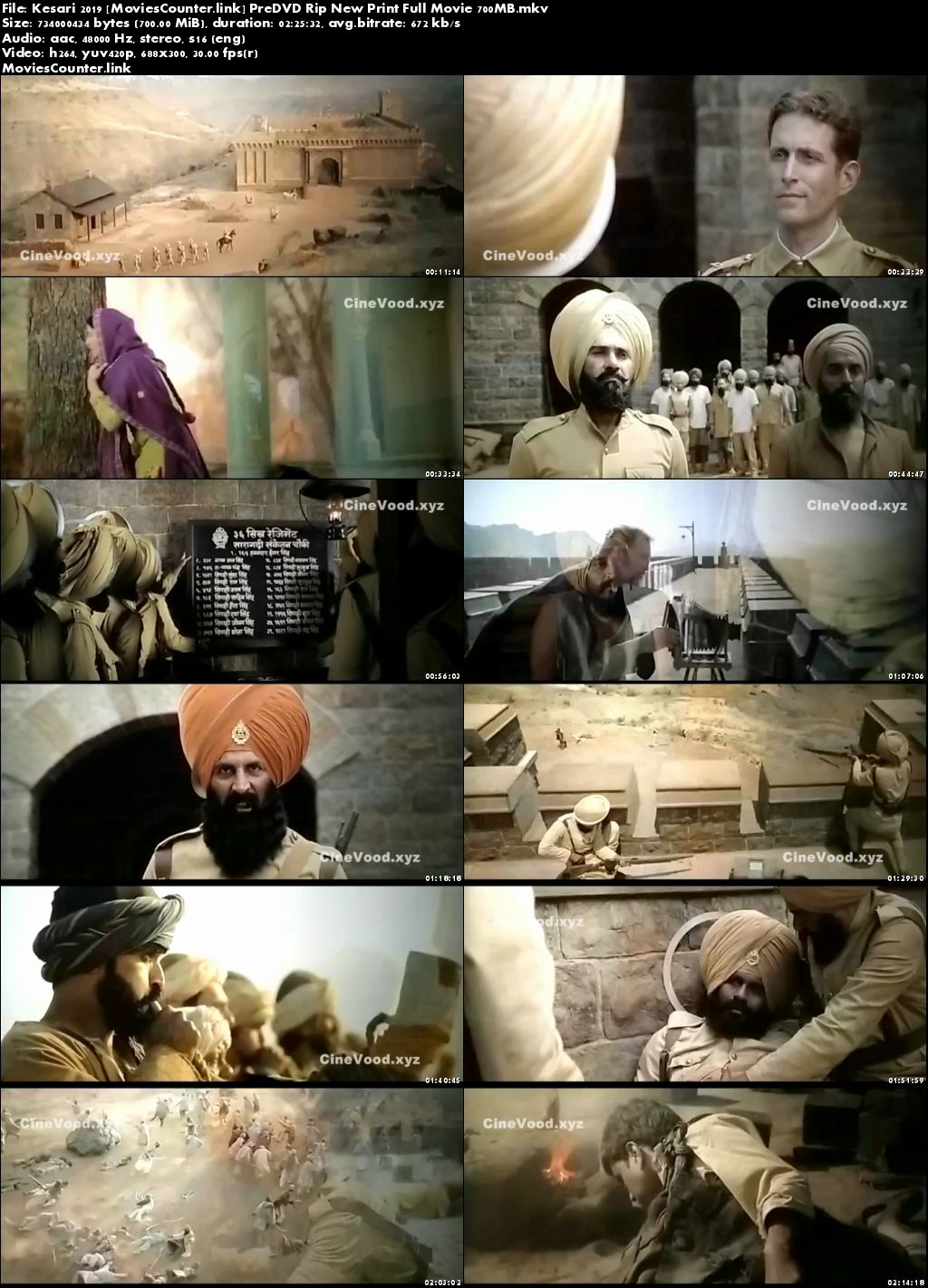Screen Shots Kesari 2019 Hindi HD 720p