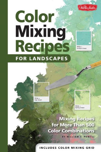 Color Mixing Recipes for Landscapes - Mixing recipes for more than 500 color combinations by William F Powell