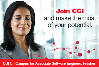 CGI Off-Campus On November 2016 for Associate Software Engineer: Freshers 2015/2016