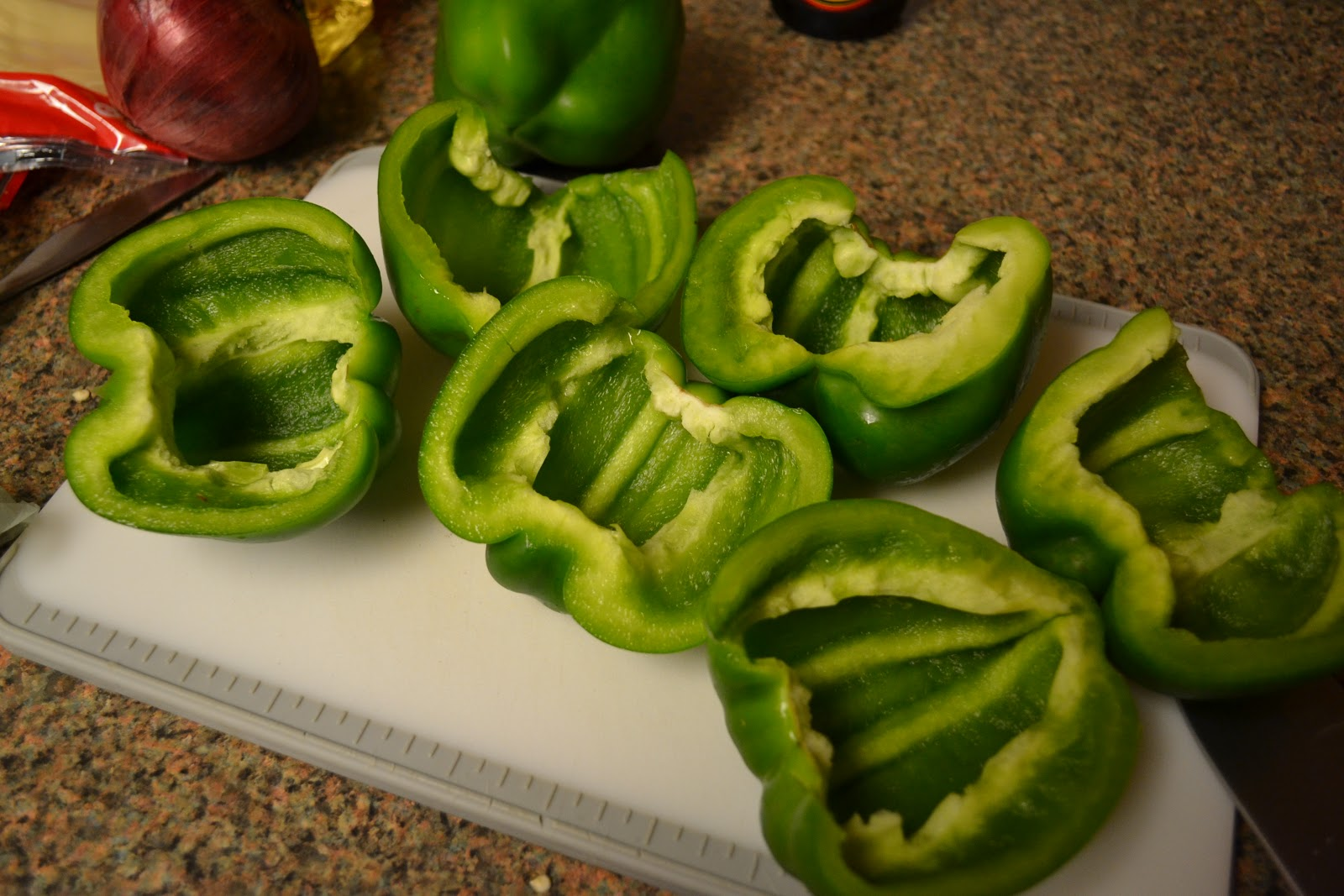 Fuck this hot ass pepper My Effing Cookbook Green Peppers Stuffed With Awesomeness