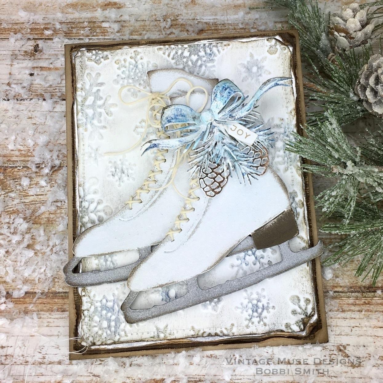 Vintage Muse Designs: Winter Wonderland Christmas Card...