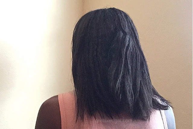 A Relaxed Gal wash day experience at 7 weeks post 7.11.15 relaxer touch up. | arelaxedgal.com