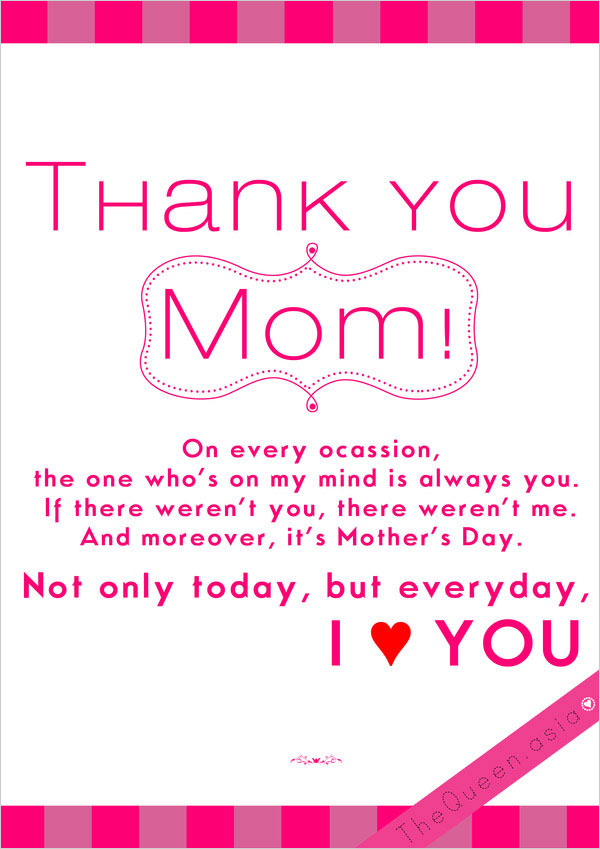 Thank you mom quotes from daughter
