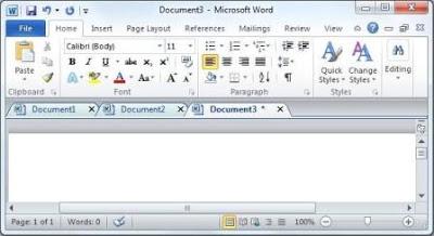 Office Tab Enterprise 9.0 Word