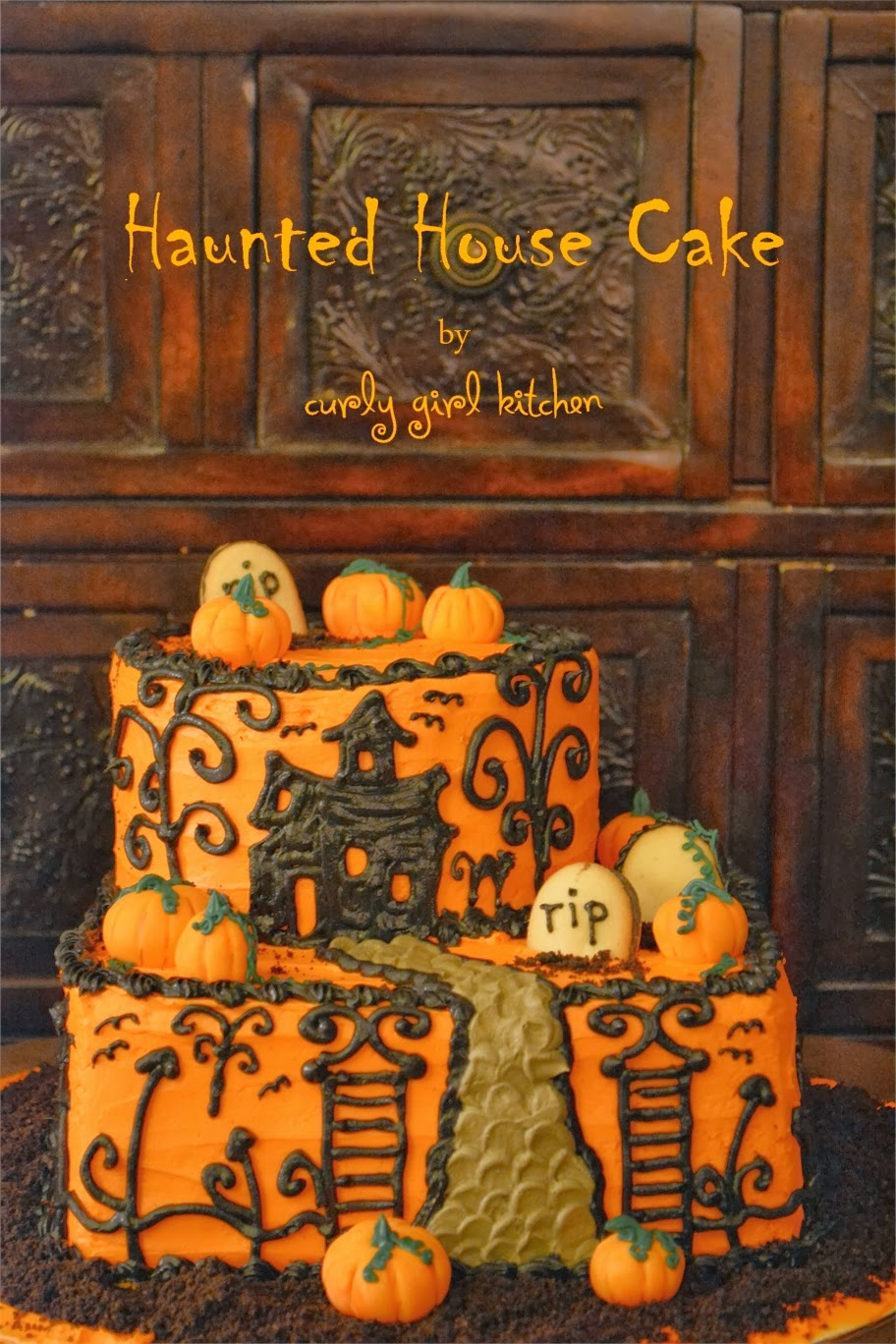 Curly Girl Kitchen Haunted House Cake