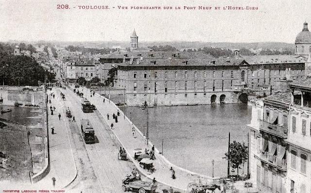 Carte postale de l'Hôtel-Dieu de Toulouse