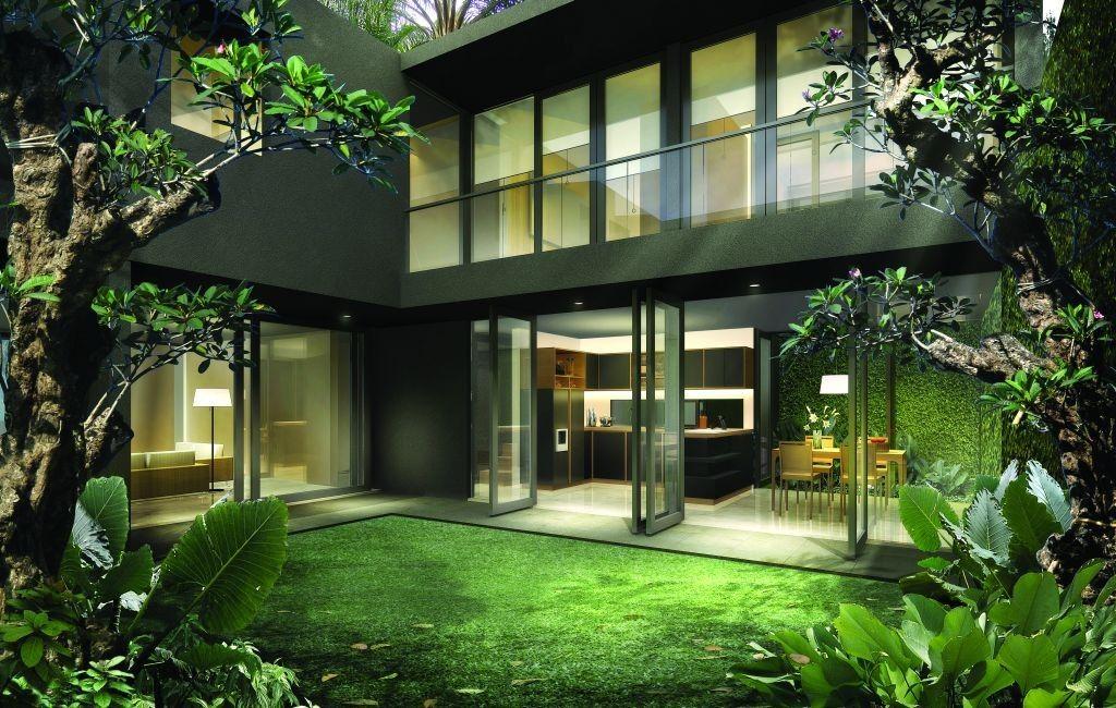 Desain Rumah Bergaya Modern Tropis Modern