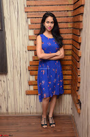 Pallavi Dora Actress in Sleeveless Blue Short dress at Prema Entha Madhuram Priyuraalu Antha Katinam teaser launch 030.jpg