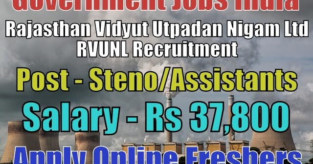 rajasthan-vidyut-utpadan-nigam-limited-rvunl-recruitment  Th P Govt Job Online Form Clerk on