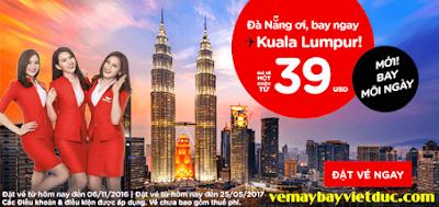 Khuyến mãi Đà Nẵng ơi, bay ngay từ Air Asia giá 39 usd