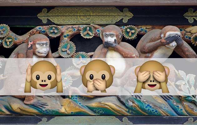 Ciertas Cosas Importantes Secretos De Los Tres Monos Sabios Iconos