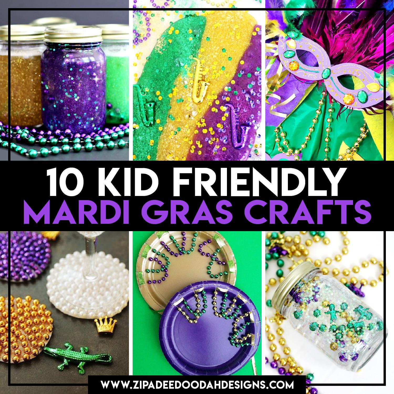 7ee8fafc56f 10 Kid Friendly Mardi Gras Crafts - Zip-A-Dee-Doo-Dah Designs