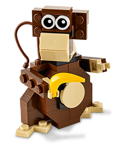 Free LEGO Monkey Mini Build