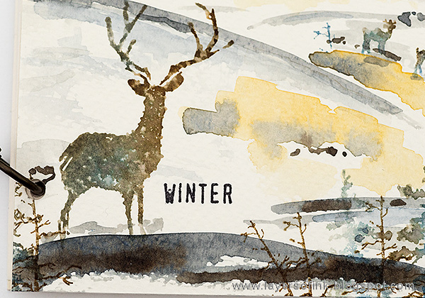 Layers of ink - Winter Watercolor Notebook Tutorial by Anna-Karin Evaldsson