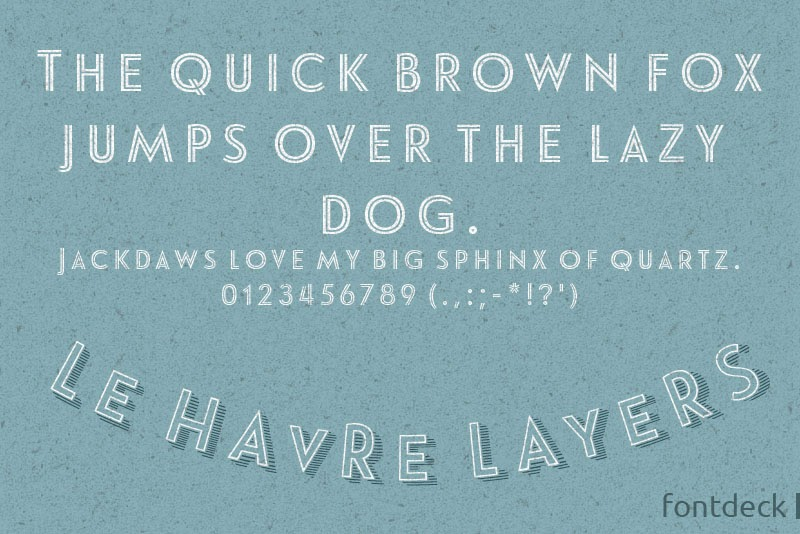 Font Deck Free Download Le Havre Layers Font Family