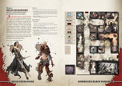 """Zombicide Black Plague: scenario promo """"Nelle Catacombe"""""""