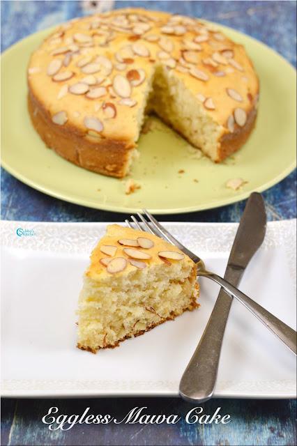 Eggless Mawa Cake in Pressure Cooker