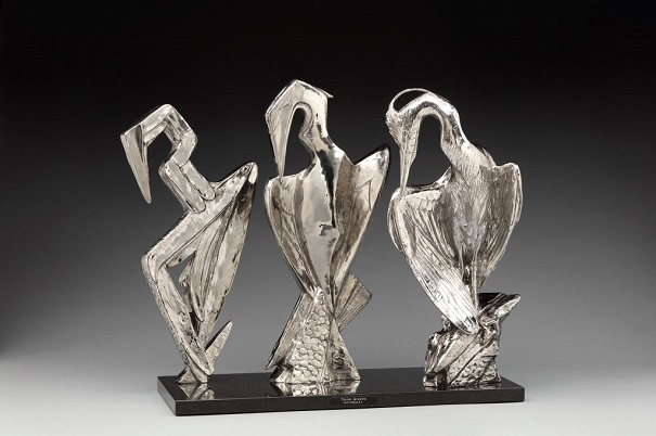 "by Kent Ullberg, ""Three Graces"" - stainless steel 