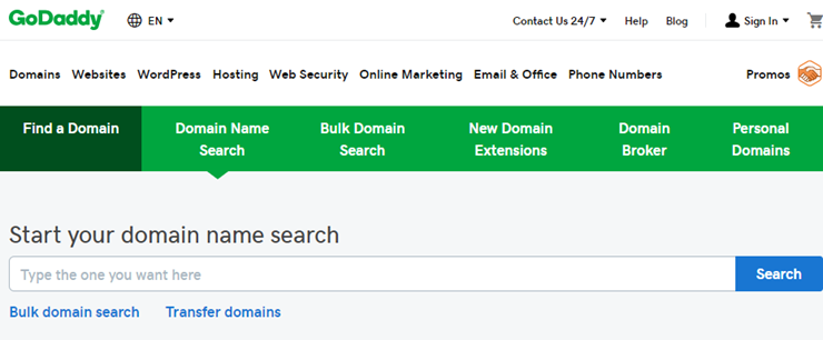 pendaftaran domain GoDaddy