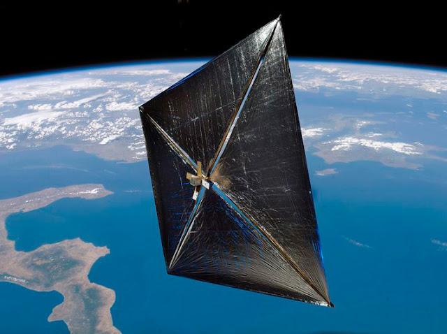 nave espacial de vela solar