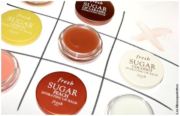 Avis Fresh Sugar Lip Balm : caramel, coconut, peach, lemon - Sephora - Blog beauté