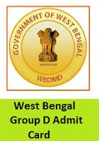 West Bengal Group D Admit Card
