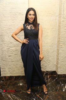 Actress Rakul Preet Singh Stills in Beautiful Blue Long Dress at Dhruva Salute to Audience Event  0115.JPG