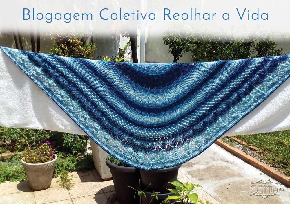 Um lindo xale de tricô vai de presente para uma amiga querida