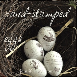 DIY hand-stamped eggs