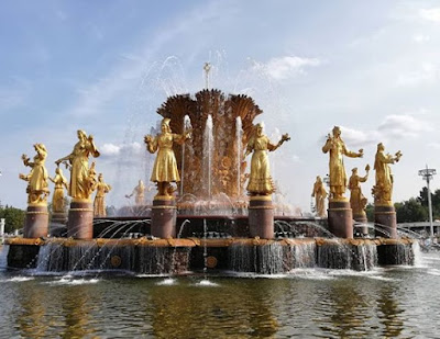 Friendship of Nations Fountain, Moskow, Rusia