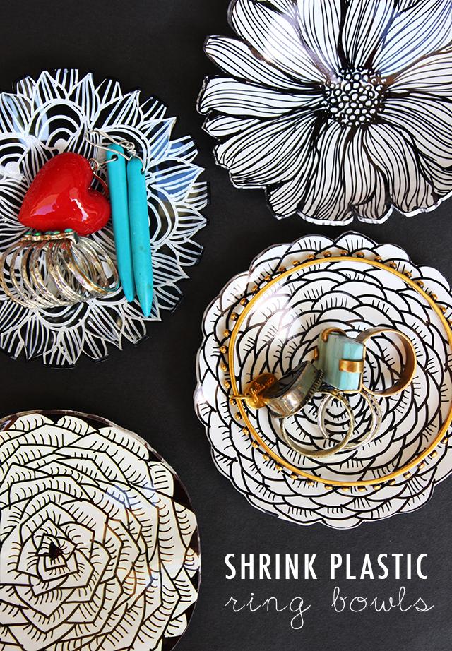 Alisaburke Shrink Plastic Ring Bowls